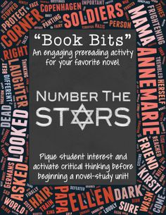 Pique student interest and activate critical thinking before beginning a… 6th Grade Ela, 5th Grade Reading, Fourth Grade, Pre Reading Activities, Reading Strategies, Introduction Activities, Number The Stars, Teaching Numbers, Middle School Ela
