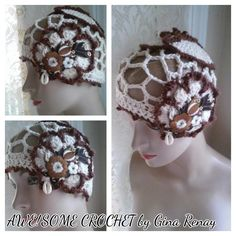 ~ #CROCHET 1 HAT DAILY! ** ~ Day 351 ** AWE!Some Crochet by Gina Renay ImaGINAtions To purchase, send inquiry to ginarenay@yahoo.com