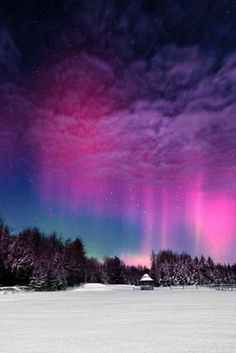 """'Moonlight Aurora II' - photo by Mike Taylor; Taylor says, """"The Moon was very bright and washed out a lot of the sky and the aurora but made for some nice lighting on the snow during the quick Northern Lights display in mid-February. Beautiful Sky, Beautiful World, Beautiful Places, Beautiful Norway, Wonderful Places, All Nature, Amazing Nature, Norway Nature, Nature Gif"""