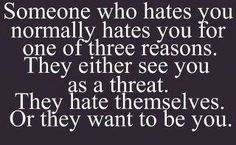 Love those who hate you. - or maybe I just hit them the wrong way.