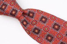 ROBERT TALBOTT Metallic Orange Abstract Pattern mens Silk Tie #RobertTalbott #Tie