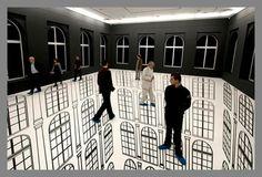 Interior Optical Illusions [Creative + Art]