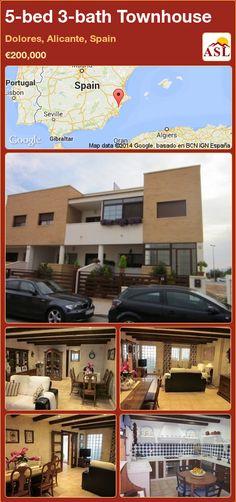 5-bed 3-bath Townhouse in Dolores, Alicante, Spain ►€200,000 #PropertyForSaleInSpain