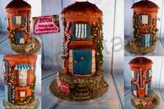 "Wedding cake  ""Romantic House"" Won gold, cake competition ""Die Tortenshow"" Hamburg, 2014"