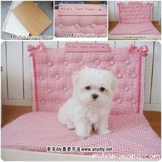 DIY Pink Dog Bed