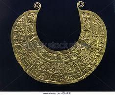 Pre-Columbian Jewelry Lambayeque/Sicán culture 700 AC-1375 AC Perú . Museum of Banco Central de Reserva - Stock Image