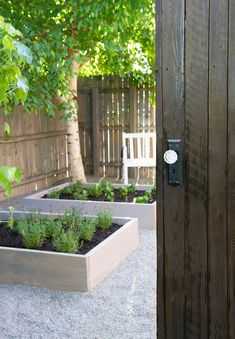 Outdoor makeovers can seem like a huge project. See how Stacy Risenmay of Not Just A Housewife created a raised herb gardens to clean up her outdoor space. Raised Herb Garden, Side Garden, Garden Soil, Garden Boxes, Vegetable Garden, Container Gardening, Organic Gardening, Backyard Ideas, Garden Ideas