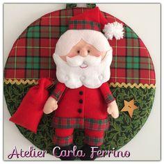 Guirlanda Papai Noel em feltro