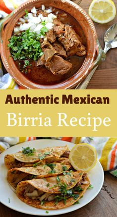 Authentic Mexican Birria Recipe Methods) - My Latina Table Learn how to make this delicious and popular Mexican Birria recipe that is commonly served at celebrations. Birria is authentic and addicting and will be leaving you asking for more. Meat Recipes, Mexican Food Recipes, Cooking Recipes, Healthy Recipes, Mexican Desserts, Freezer Recipes, Freezer Cooking, Drink Recipes, Cooking Tips