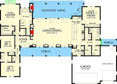 Bright and Open 3-Bed Modern Farmhouse - 69690AM | Architectural Designs - House Plans