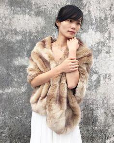 Hey, I found this really awesome Etsy listing at https://www.etsy.com/au/listing/228350019/bridal-shawl-bridal-fur-stole-faux-fur