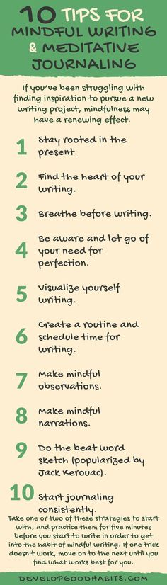 Tips for Mindful Writing | Meditative Journaling. Tips for writing a mindful journal