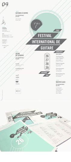 Work, Festival International de Guitare : Stoëmp - graphic design studio