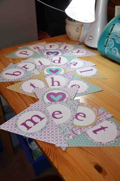 Meet the Bridal Party banner available at AJ's Craft Creations. https://www.facebook.com/ajs.craft.creations