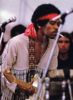 "pinkfled: "" Jimi Hendrix at Woodstock Festival, 1969 """