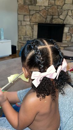 Black Baby Girl Hairstyles, Little Girls Natural Hairstyles, Cute Toddler Hairstyles, Kids Curly Hairstyles, Curly Hair Styles, Natural Hair Styles, Hair Styles For Toddler Girls Curly, Girl Hair Dos, Hair Kids