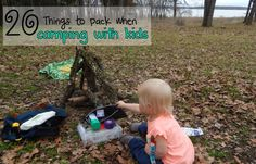 20 Things to Pack when Camping with Kids