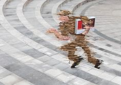 """Ogilvy & Mather Jakarta have created this ambient campaign for UPS Express Delivery by visualising """"speed"""" in the form of art installations placed around the city in public places."""