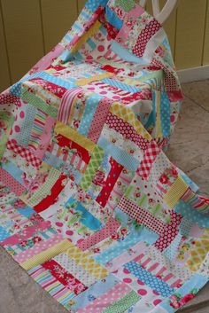 """Sewn With Grace-sweet, easy baby quilt; 2 1/2""""x 8 1/2"""" strips"""
