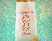 Cute, Cute Peanut Bag to use for snacks or as a favor bag