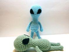 Alien Plush  Amigurumi Alien Toy  Blue or Green Crochet