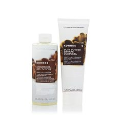 Shop Korres Vanilla Cinnamon Shower Gel and Body Butter Duo, read customer reviews and more at HSN.com.