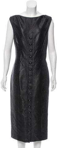 L'Wren Scott Wool Jacquard Midi Dress