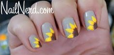 Image result for sunflower nails