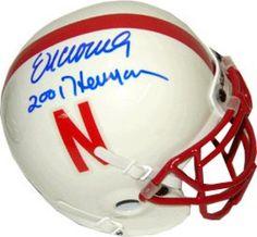 Eric Crouch Signed Mini Helmet with 2001 Heisman Inscription #SportsMemorabilia #NebraskaCornhuskers