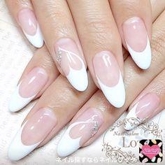 Image of unlimited gel art Classy Nails, Stylish Nails, Bridal Nails, Wedding Nails, French Nail Designs, Nail Art Designs, Perfect Nails, Gorgeous Nails, French Nails