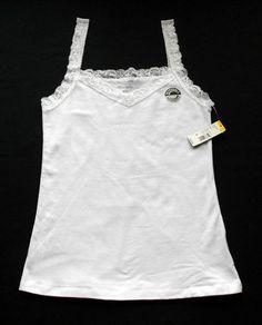 Apostrophe White Lace Trim Cotton Stretch Reversible Cami Women's Size M NWT | eBay