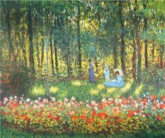 The Artist's Family in the Garden - Claude Monet, 1875, Oil