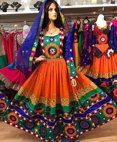 Balochi dress for lady is one of the delightful social sides of Balochistan. The balochi dress is appealing, in form, great and extremely rich that… Garba Dress, Navratri Dress, Balochi Dress, Pakistani Outfits, Indian Outfits, Afghan Wedding Dress, Wedding Dresses, Stylish Dresses, Fashion Dresses