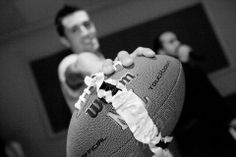 Garter On Football | Pauleenanne Design | Ultimate Images Photography