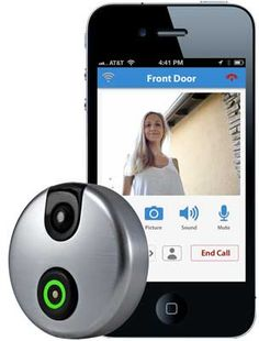 SkyBell (formerly iDoorCam) Wi-Fi Doorbell with CCTV & Motion Detection