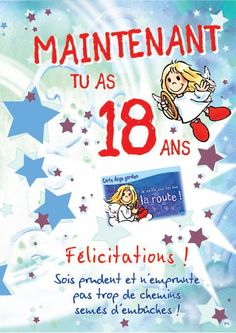 Carte D'invitation Anniversaire 18 Ans Gratuite À Imprimer Lovely Carte Géante Anges Gar Ns 18 Ans Boutique Anges