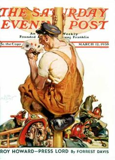 Saturday Evening Post - 1938-03-12: Fireman with Winning Hand (Samul Nelson Abbott)