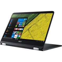 """Acer - 2-in-1 14"""" Refurbished Touch-Screen Laptop - Intel Core i7 - 8GB Memory - 256GB Solid State Drive - Shale black"""