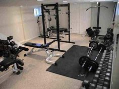 Home Gym - ClippingBook - Set Up An At Home Gym, how to build a gym at home, what do you need for an at home gym, weights, gym equipment