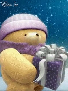 Discover & share this Animated GIF with everyone you know. GIPHY is how you search, share, discover, and create GIFs. Christmas Pictures, Christmas Art, Christmas Greetings, Winter Christmas, Winter Snow, Tatty Teddy, Animiertes Gif, Animated Gif, Bear Gif
