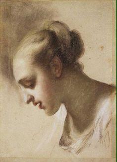 29 - Эрмитаж. Шедевры - 5 - Terra Incognita. Сайт Рэдрика  Каррьера, Розальба - Портрет Молодой женщины. Этюд