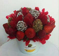 Bouquet de fresas con chocolate & nuez