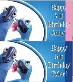 Custom Vinyl Rio Movie Birthday Party Banner Decorations Childs Name Rio Party, Rio Movie, Happy 7th Birthday, Personalized Banners, Party Themes, Themed Parties, Party Ideas, Custom Vinyl, Kid Names