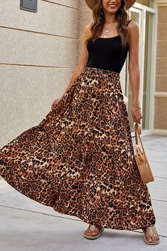 Rompers, Animal, Skirts, Tops, Fashion, Long Chiffon Skirt, High Skirts, Midi Skirts, Long Pleated Skirts