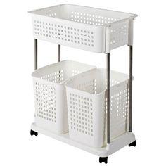 Laundry Room Storage, Storage Room, Plastic Laundry Basket, Bassinet, Table, House, Furniture, Home Decor, Laundry Storage