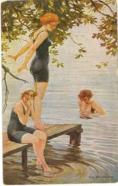 Divided Back Postcard Young Women in Bathing Costumes Swimsuits & Pinup Vintage Beauty, Vintage Art, Vintage Ladies, Pin Up, Bathing Costumes, Vintage Swimsuits, Coastal Art, Bathing Beauties, Wedding Beauty