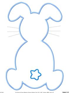 Outline Easter Bunny Machine Embroidery Applique Design. $4.00, via Etsy.