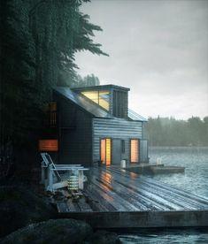 Un lugar para esconderse unos días  One place to hide for a few days...  Archatlas: Lake House Rodrigo Mila