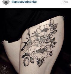 Diana severinenko  #tattoo #ink #drawing #flowers