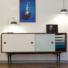 Finn Juhl sideboard. Imagine looking at this everyday. Love the color combo.